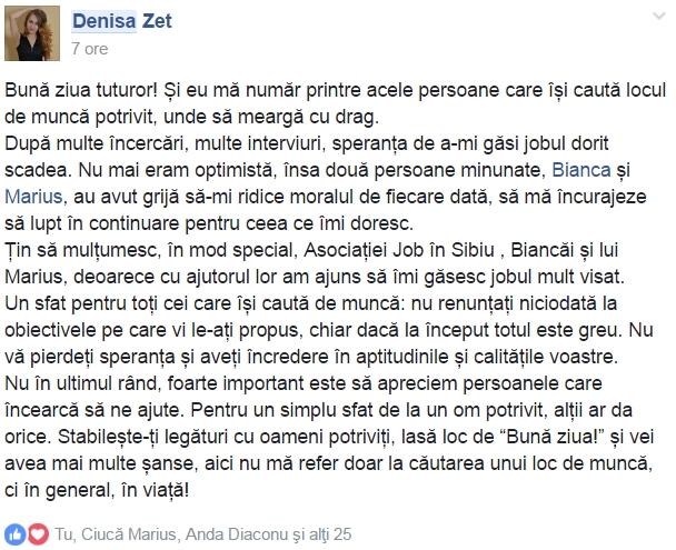 testimonial denisa zet